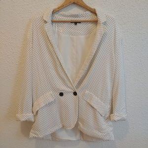 Large, polkadot Zara blazer